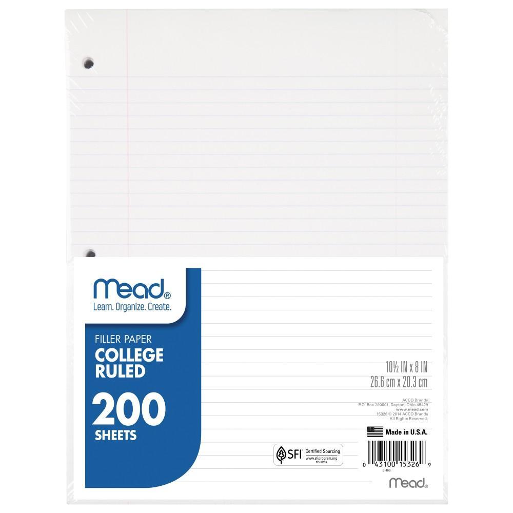 college rule paper
