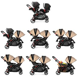 Contours Options Elite Tandem Stroller, Sand review