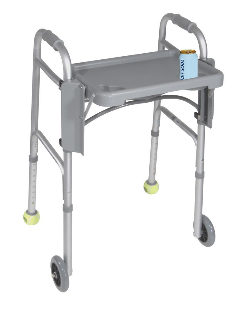 "Drive Medical Deluxe Folding Walker Tray, Gray, 16"" x 12"""