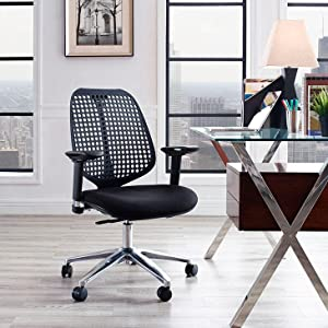 office chair, modern, adjustable, swivel, breahtable, comfortable, ergonomic, padded, armrests