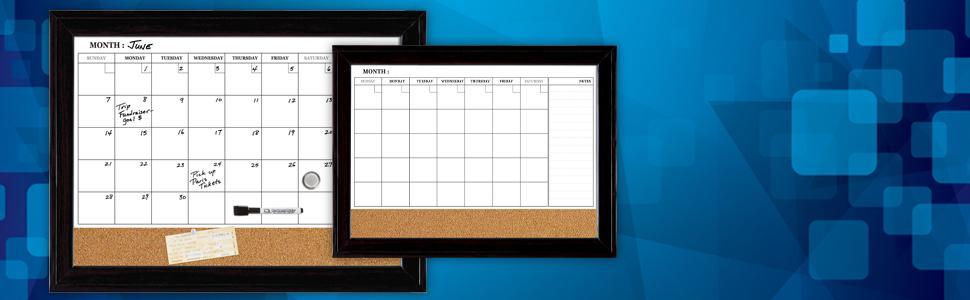 Calendar Bulletin Board Combo : Quartet dry erase calendar board magnetic combination