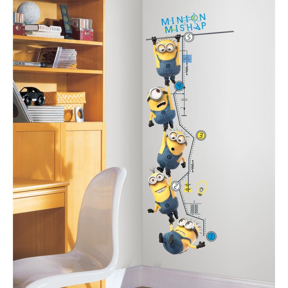 Roommates Wall Stickers : Minions growth chart minion wall