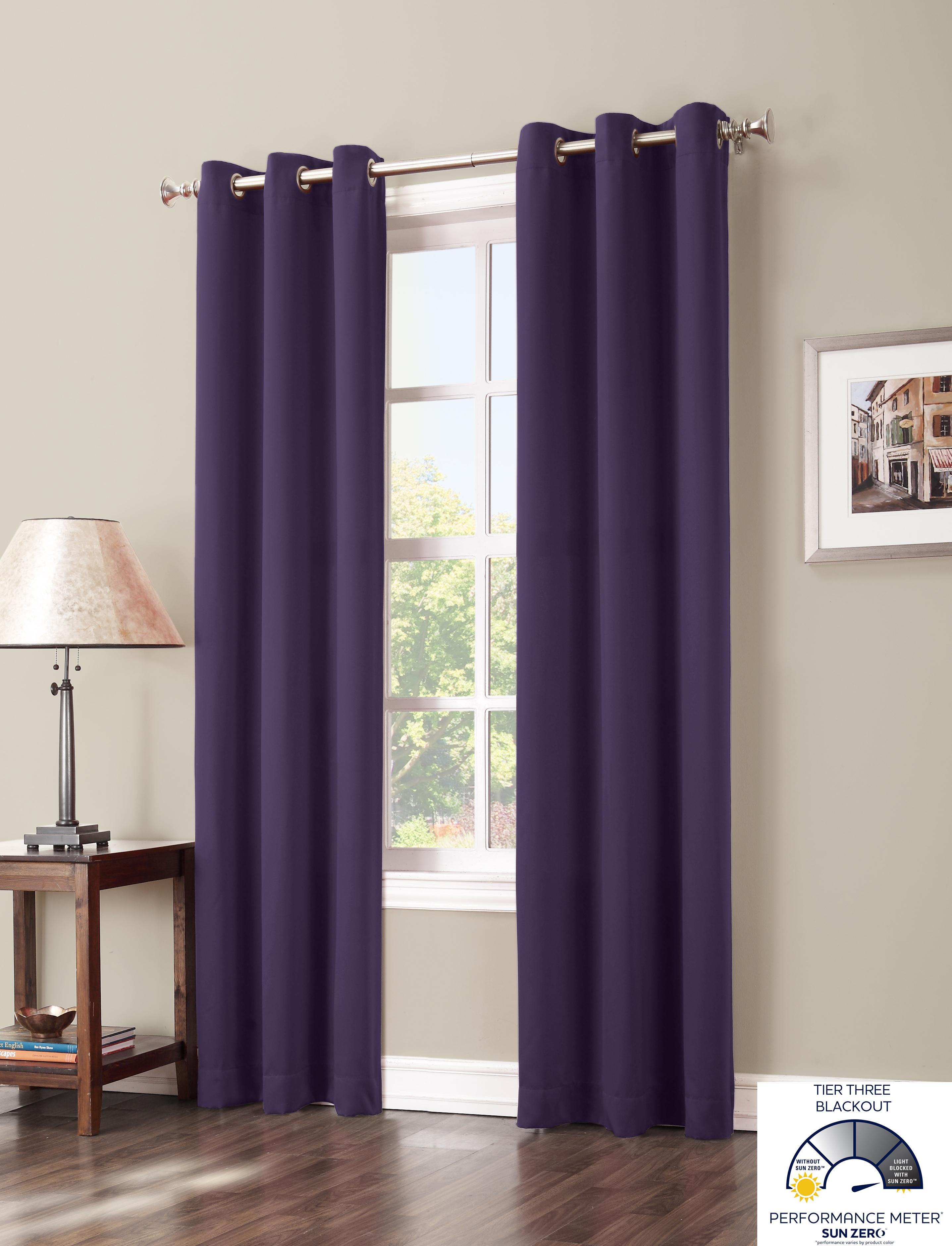 Amazon.com - Sun Zero Easton Blackout Curtain Panel, 40 x 63 Inch ...