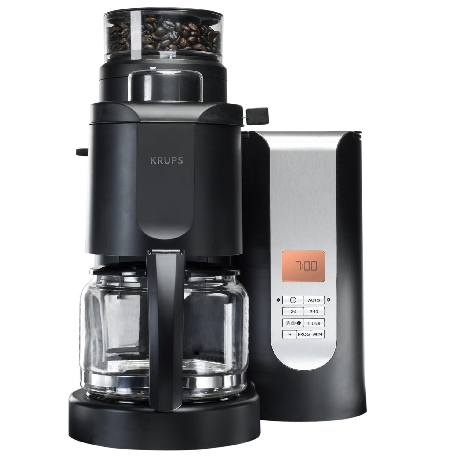 krups km7005 grind and brew coffee maker with. Black Bedroom Furniture Sets. Home Design Ideas