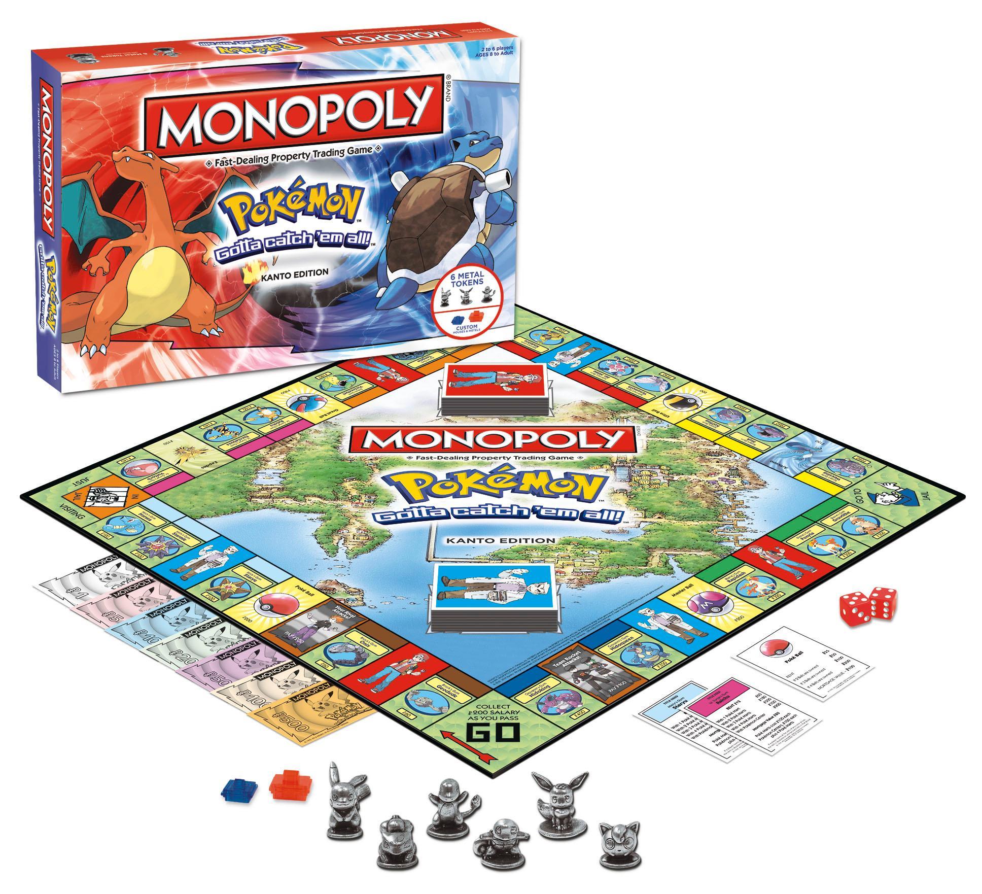Amazon.com: MONOPOLY: Pokemon Kanto Edition: Game: Toys