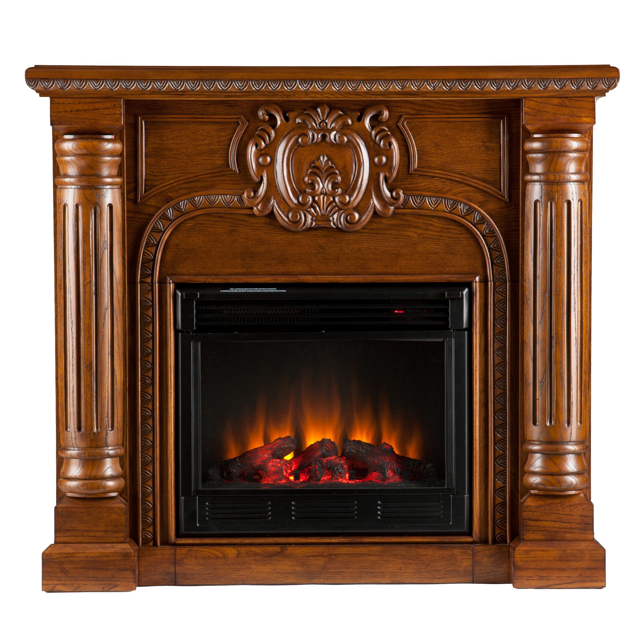 romano electric fireplace salem antique oak