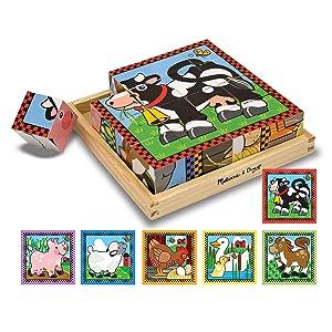 wood blocks, animals, toy for 3 year old, boys, girls, preschool, toddlers