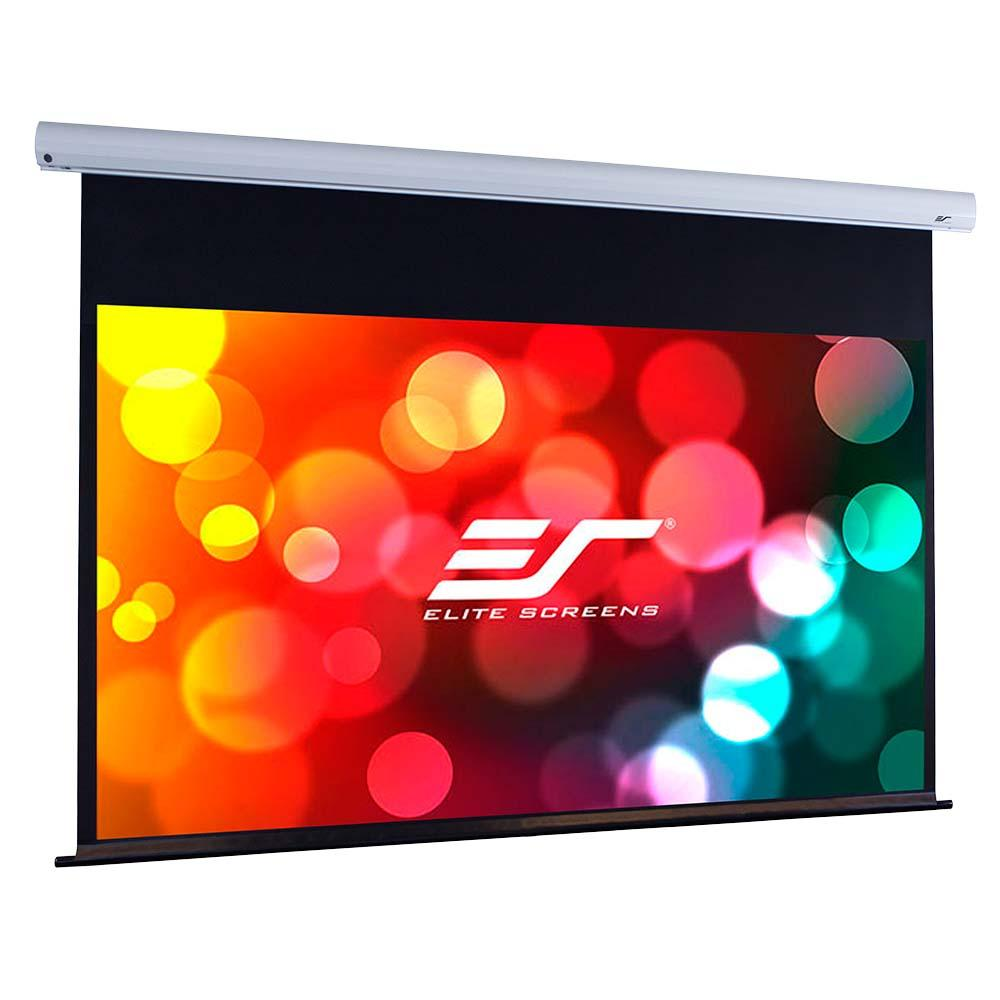 Elite screens saker plus 200 inch 16 9 large for Motorized drop down projector screen