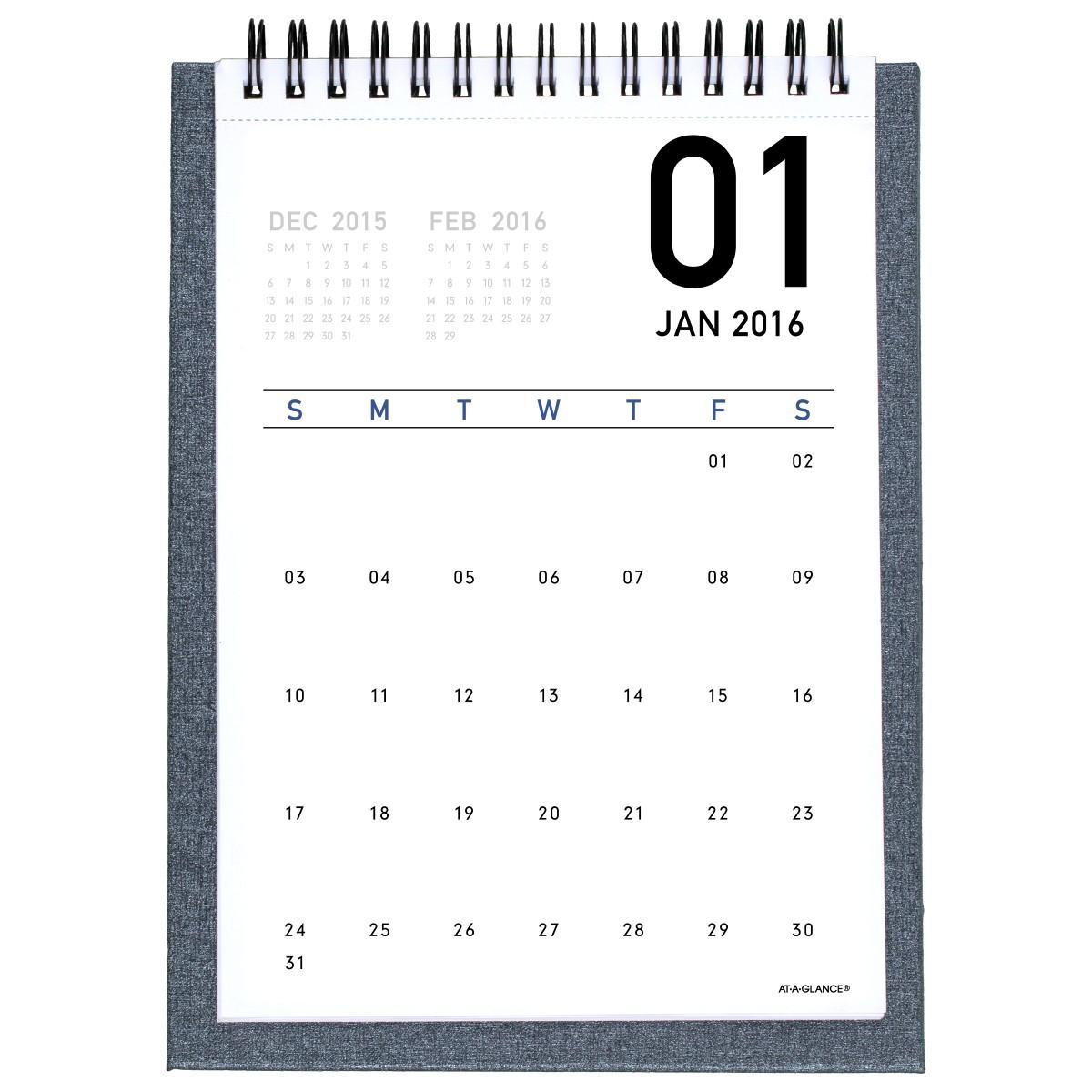 Calendar Planner Desktop : Desktop easel calendar standing monthly