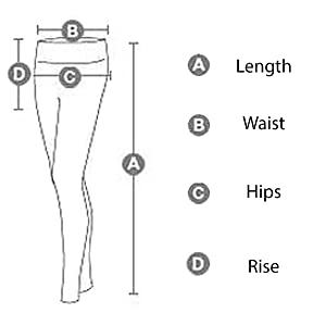 D&K Monarchy Full Length Leggings Dimensions Chart, Measurements Reference Table, Sizing Chart