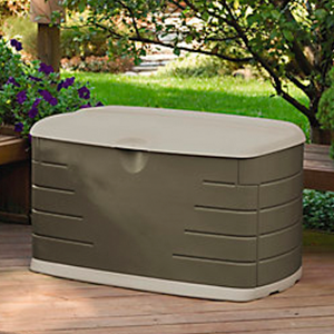 Amazon Com Rubbermaid 5f21 Deck Box With Seat Outside