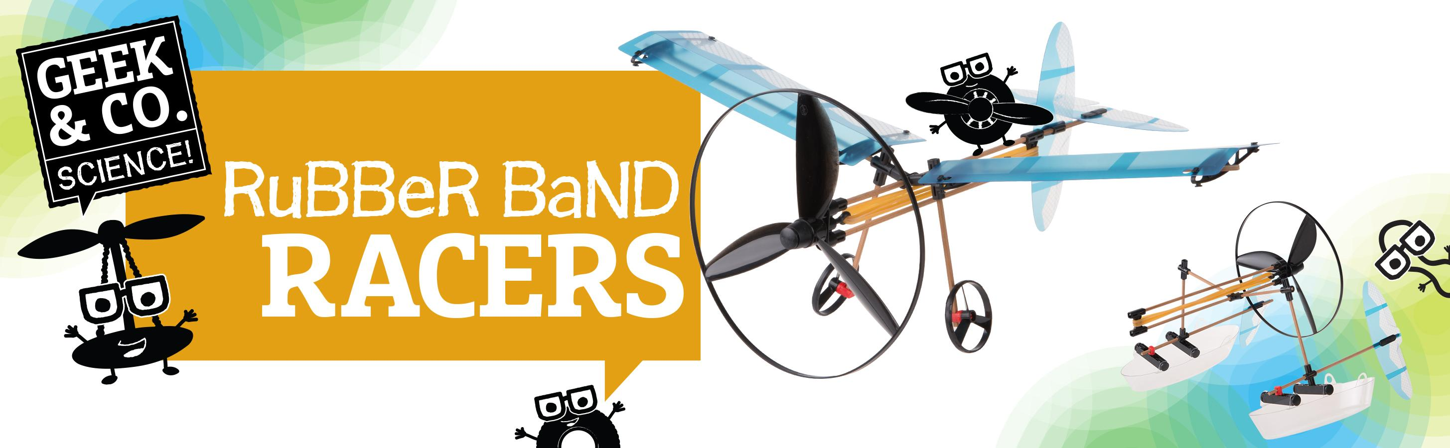 Geek Toys Science : Amazon geek co science rubber band racers kit