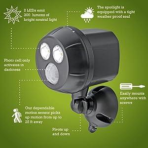 mr beams ultrabright spotlight, wireless led spotlight