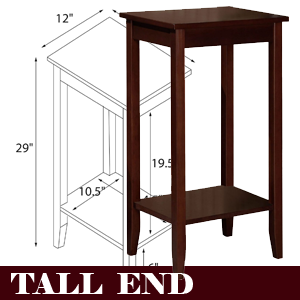 Tall Brown End or Coffee Table