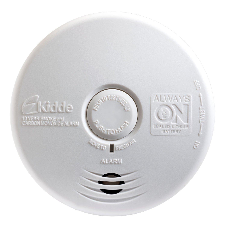 kidde p3010k co worry free kitchen photoelectric smoke and carbon monoxide alarm. Black Bedroom Furniture Sets. Home Design Ideas