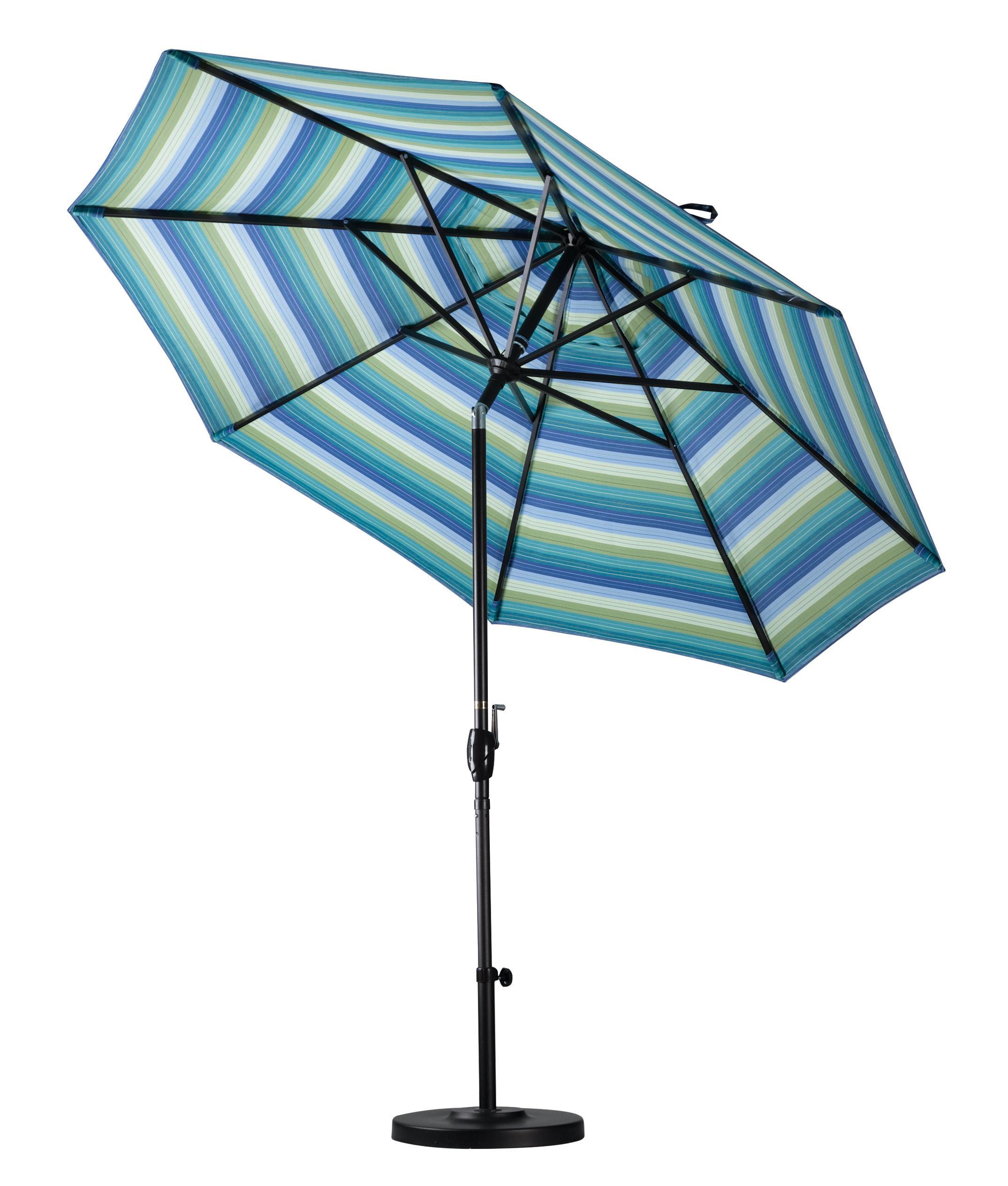 California umbrella 9 feet olefin fabric for Outdoor patio umbrellas