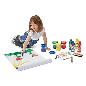 Art supplies, painting, kids art supplies, preschool, toddler, paint, chalk, dry erase board