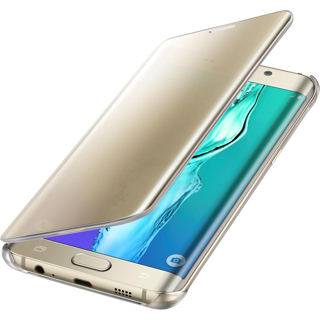 Samsung Galaxy S6 edge Plus Case S-View Clear Flip Cover - Gold: Cell ...