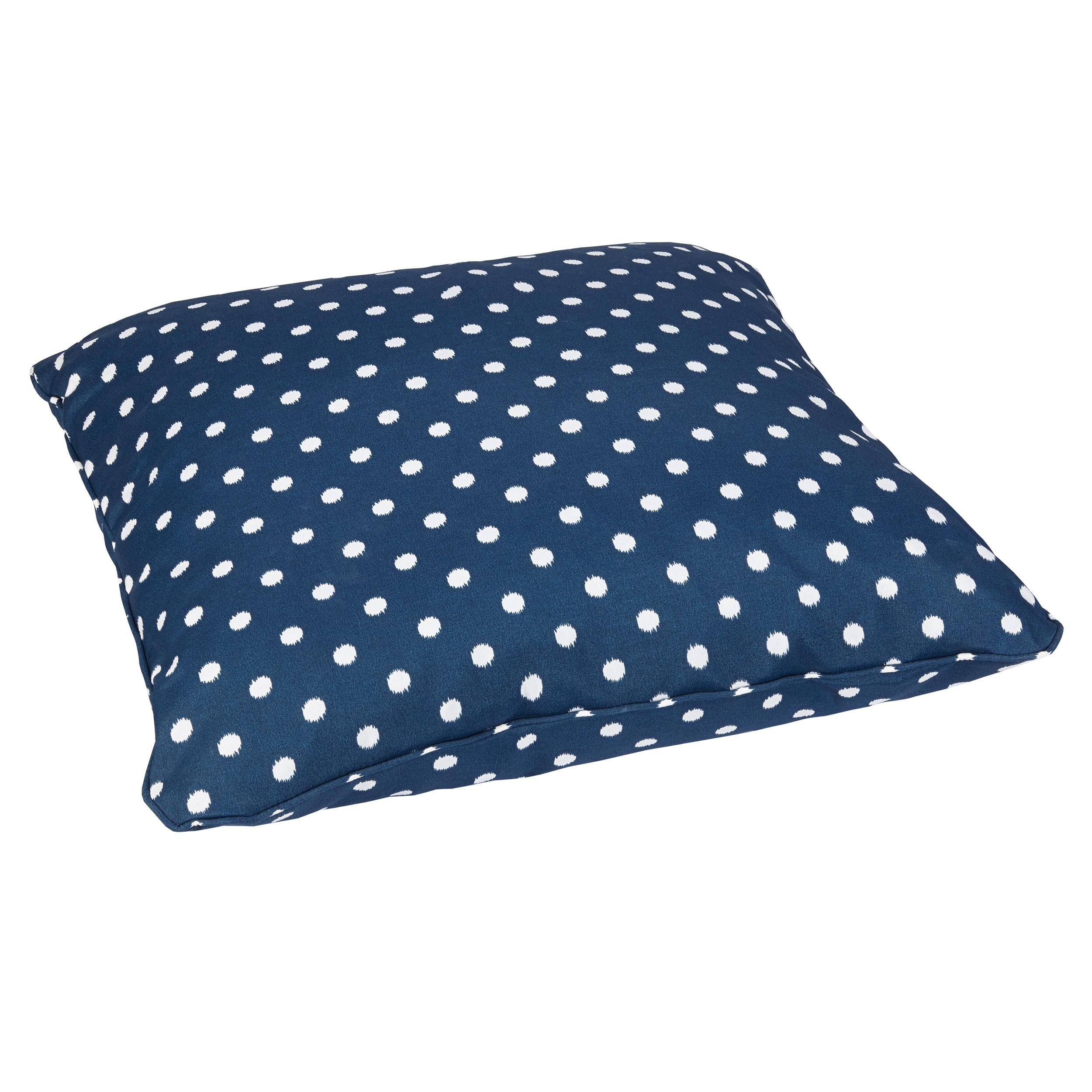 Large Outdoor Floor Pillows : Amazon.com : Mozaic Sabrina Corded Indoor/Outdoor Square Floor Pillow, 28-Inch, Navy Dots ...