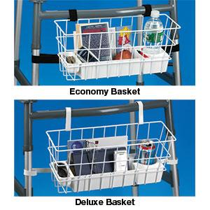walker basket, wire basket for walkers, walking aids for disabled, accessories for walkers