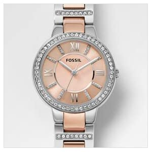 """Fossil Women's ES3405 """"Virginia"""" Stainless Steel Two-Tone Watch"""
