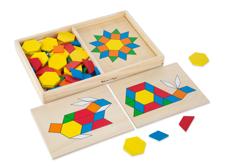 Art Educational Toys : Amazon melissa doug pattern blocks and boards