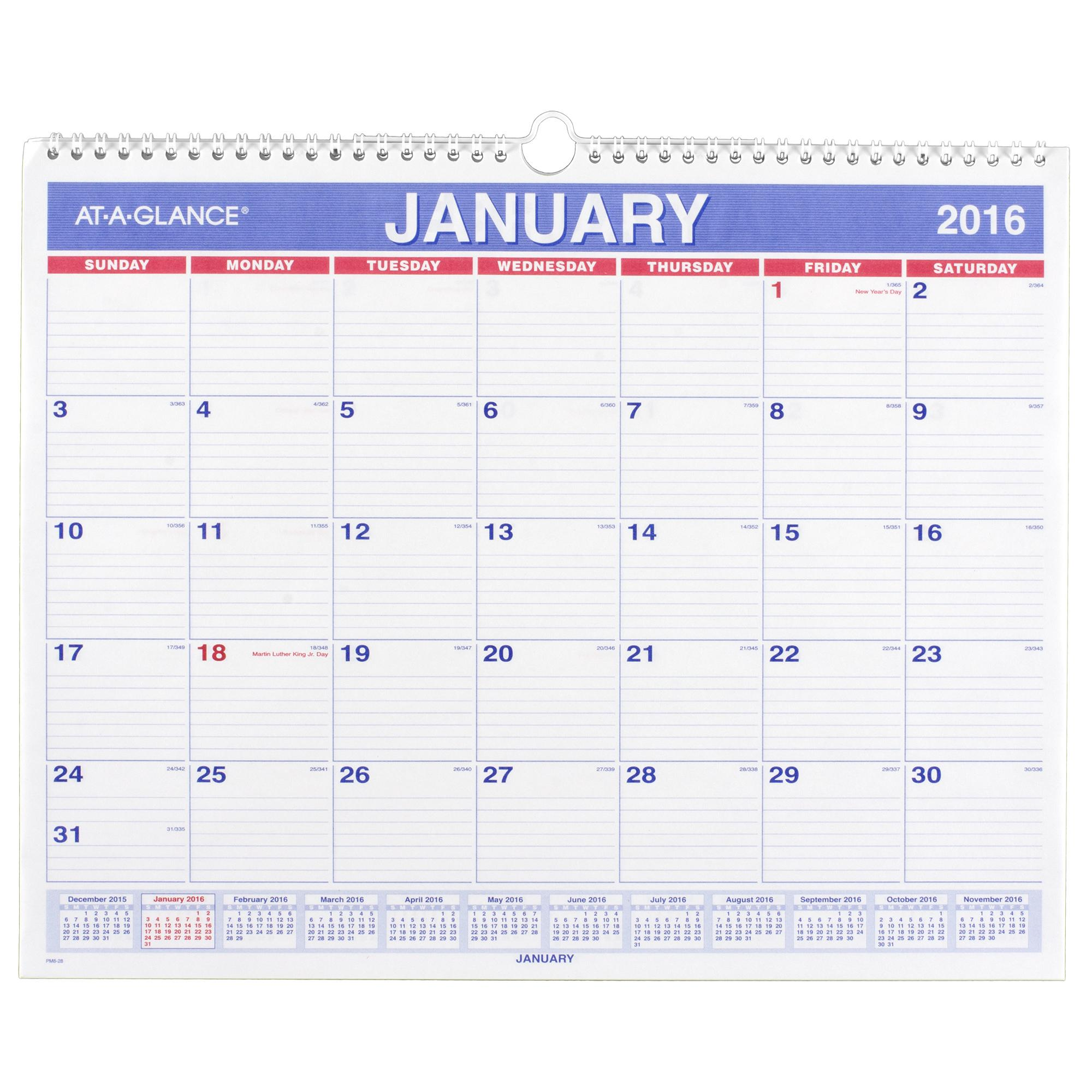 Hanging Planner Calendar : Amazon at a glance monthly wall calendar