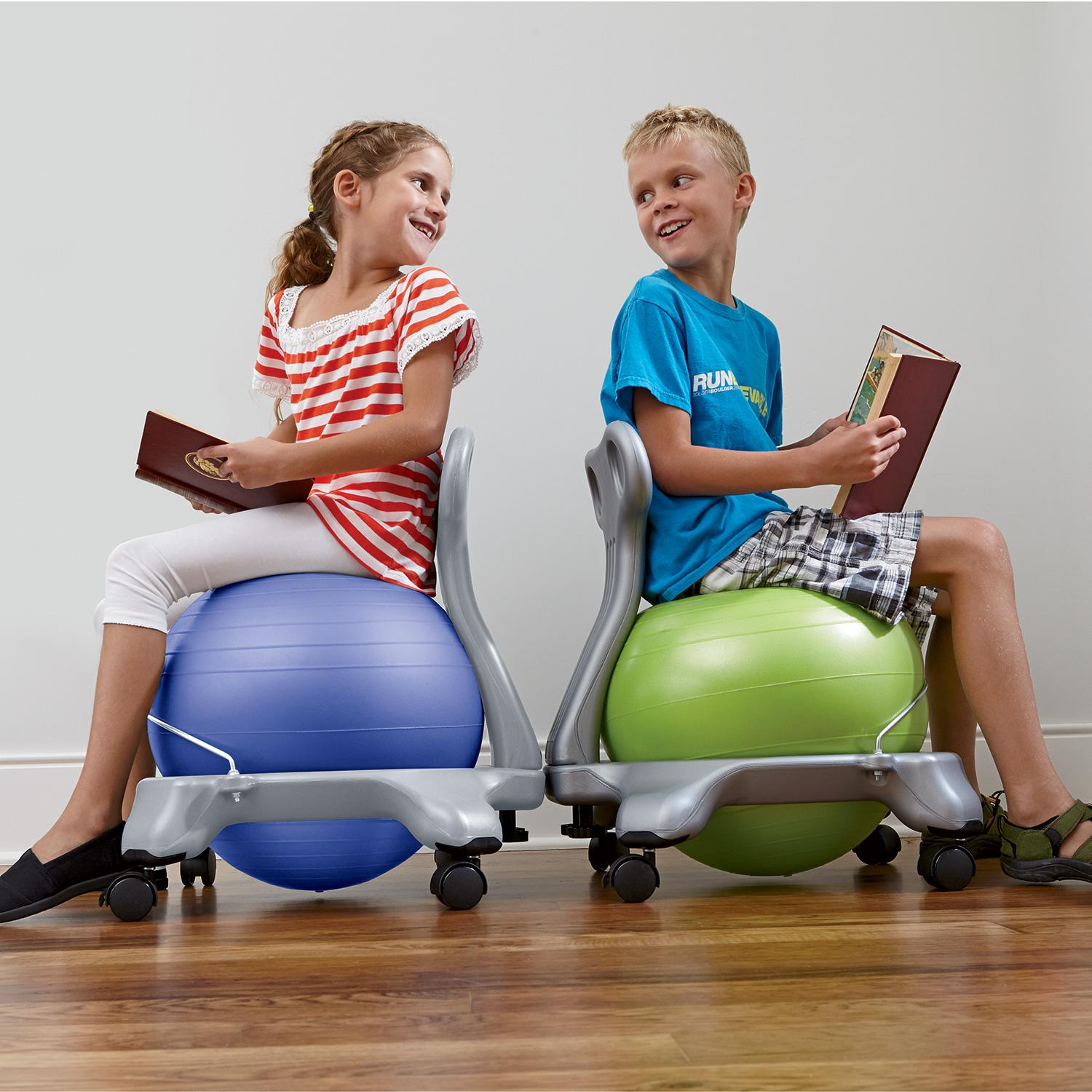 Amazon Com Gaiam Kids Balance Ball Chair Green Sports