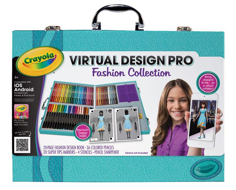 Crayola virtual design pro fashion set toys Crayola fashion design studio reviews