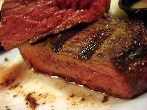 medium rare steak   fixins