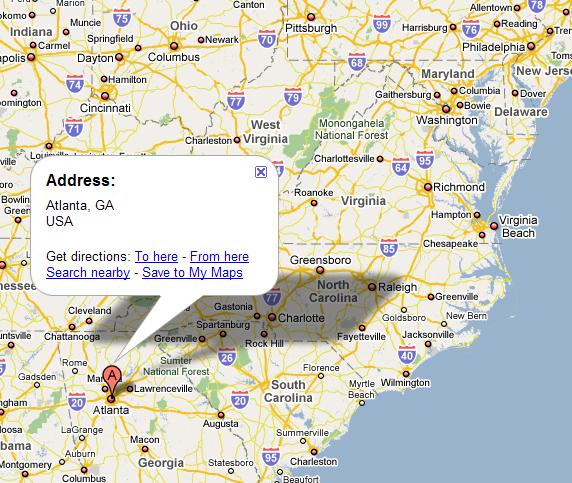 Where Is Atlanta World Map Weltkarte Peta Dunia Mapa Del - Where is atlanta