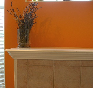Oak Cabinets And Rust Color Tile Floor What Color To Paint