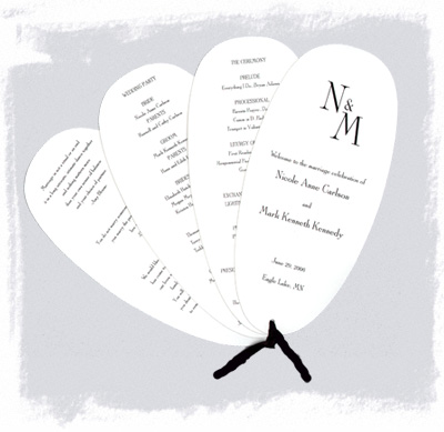 Booklet Wedding Programs on Fan Style Wedding Programs    Is There A Template
