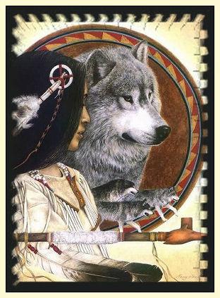 Рхема вышивки Волки: