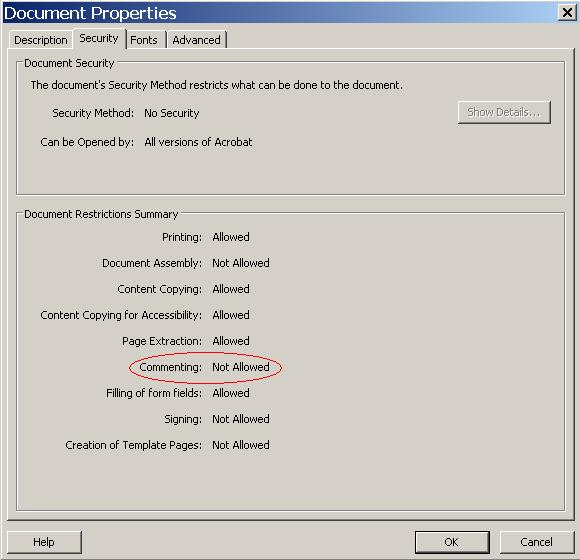 how to write protect a pdf in adobe reader