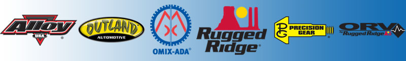 OMIX-ADA, Rugged Ridge, Precision Automotive, Alloy USA, Outland, ORV