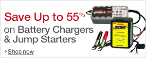 Save Up to 55% on Battery Chargers & Jump Starters