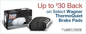 Get Up to $30 Back on Select Wagner ThermoQuiet Brakes