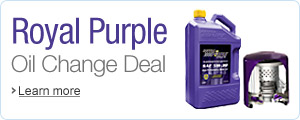 Royal Purple Ultimate Oil Change Deal