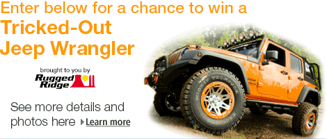 Amazon Jeep Giveaway: Enter To Win A Free 2013 Jeep Wrangler Unlimited