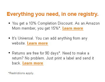 About the Baby Registry on Amazon