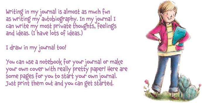 """""""Here are some pages for you to start your own journal."""""""