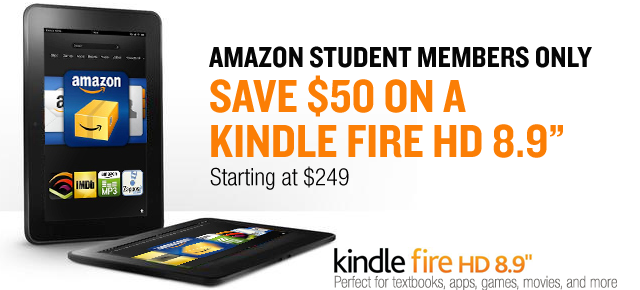 Amazon Student Kindle Fire HD 8.9 Exclusive Offer