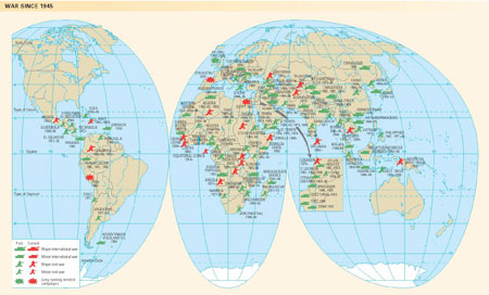 Oxford atlas of the world by oxford university press librarything this diagram shows the wars fought around the world since 1945 gumiabroncs Images