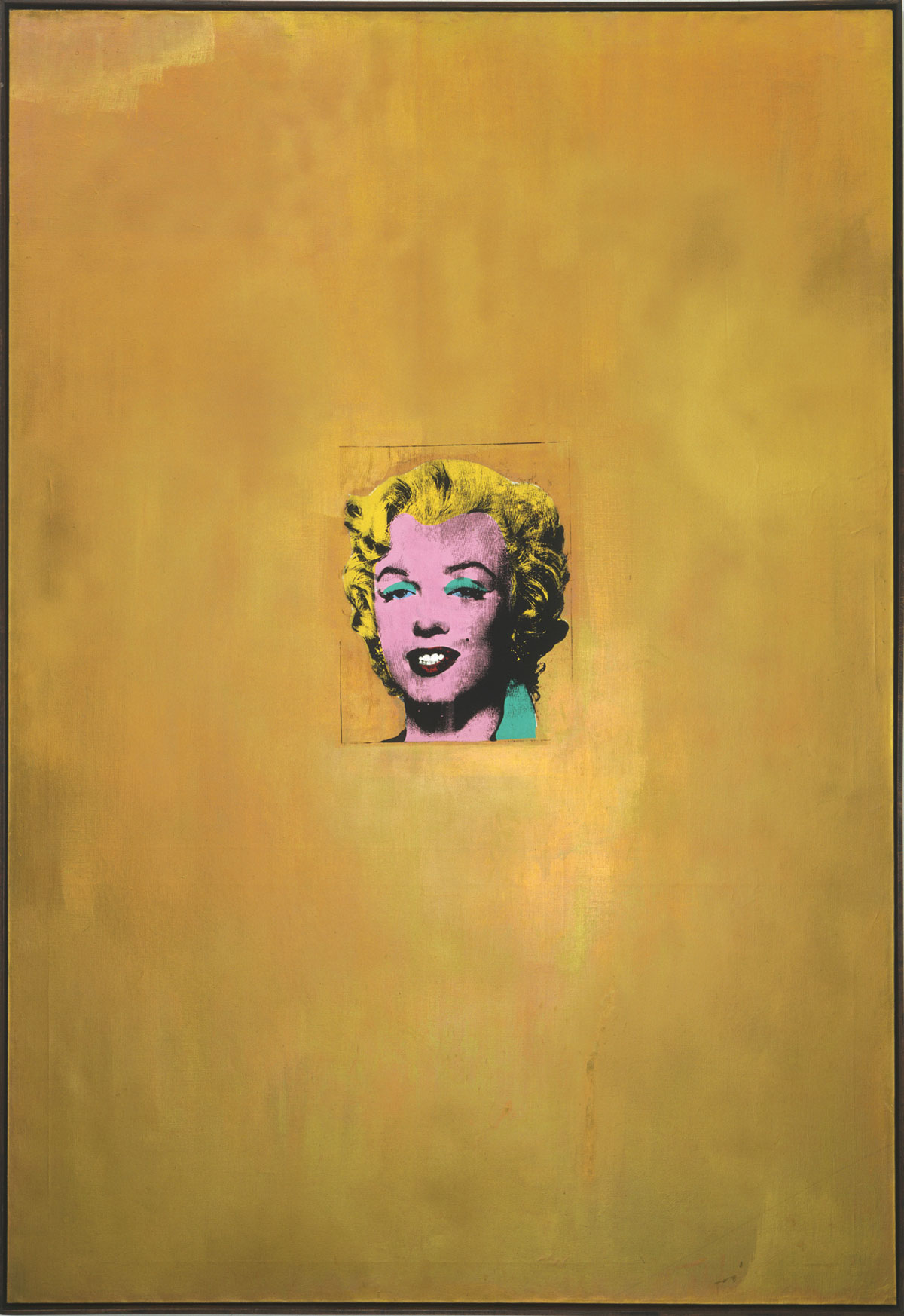 Andy Warhol, Gold Marilyn, silkscreen ink and metalic paint on canvas, 1962