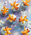 Playing Koi Cupcakes