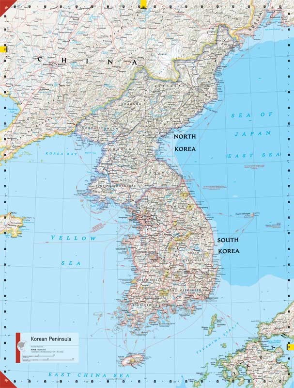 satellite photo of north korea at night. North Korea: See at a glance