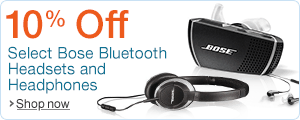 Save 10% on Select Bose Headphones and Headsets
