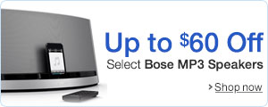 Up to $60 Off Select Bose MP3 Speaker Systems