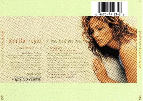 jennifer lopez love album images. jennifer lopez love album back